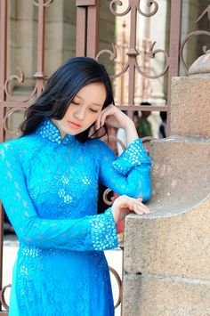 """Vietnamese ao dai, long dress"" by Luc Nghi, via 500px."