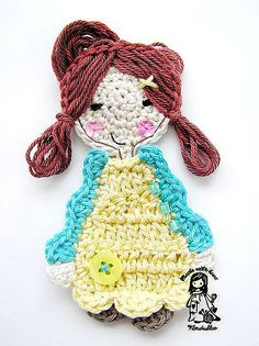Ravelry: Sweet girl application pattern by Vendula Maderska.  FREE PDF 6/14.