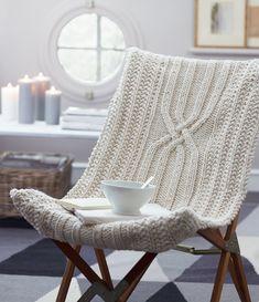 decor, chair covers, idea, inspiration, chairs, knit chair, crochet, mariepaul faur, homes