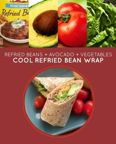 Cool Refried Bean Wrap | 15 Brown-Bag Lunch Sandwiches With No Meat