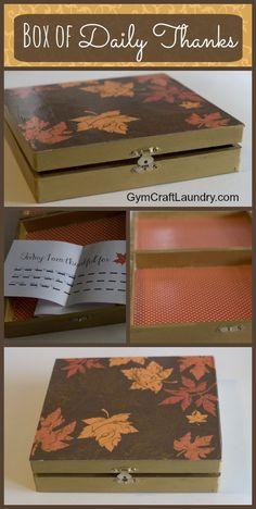 Decoupage Idea: A Box Full of Thanks