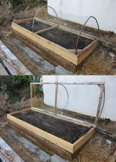 A Hinged Cover for a Raised Bed Vegetable Garden