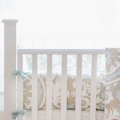 Blue Skies Crib Bumper from PoshTots