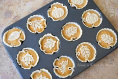Mini pumpkin pies with cute toppers