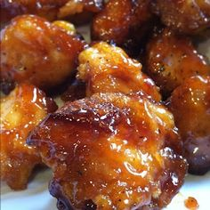 Sweet and Sour chicken -it really cant get any easier than this. All the ingredients are already in my pantry!