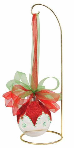 Nicole™ Crafts Poinsettia Glass Ball Ornament #ornaments #craft #christmas