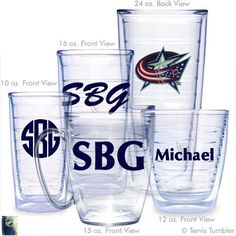 Columbus Blue Jackets Personalized Tervis Tumblers