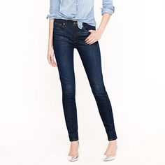 Midrise toothpick jean in carbon, size 28 tall