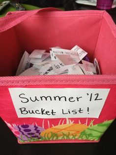 Summer bucket list 2012! Make it happen <3