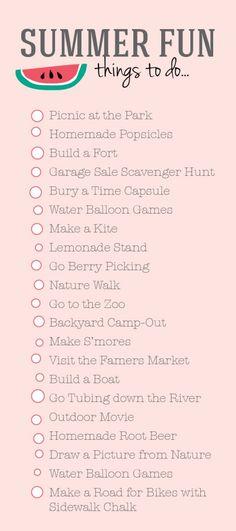Summer To Do List from DesignLovesDetail.com!