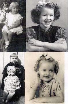 collage sheet Little girls