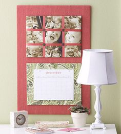 Photo Calendar (tutorial), Homemade Organizers & Useful Items Made Cute