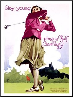 Golf in Germany    by Ludwig Hohlwein