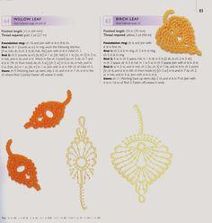 Ivelise Feito à Mão: Vários Motivos De Folhas Em Crochê rose crochet pattern