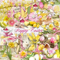 A beautiful Easter/Spring themed scrapbook collection from Raspberry Road Designs.