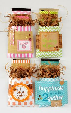 Doodlebug - decorated candy bars in cute bags