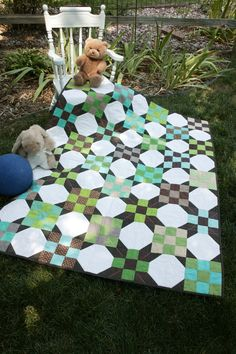 Play Ball! featured in Quilters Newsletter's Best Fat Quarter Quilts 2012