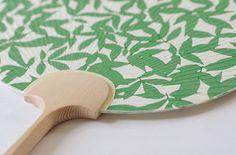 Hand-printed Japanese Fan