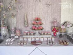 Winter baby shower for little girl