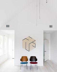 hotel interiors, wall art, wall hangings, chair, hous, shade, accent walls, hexagon, hallway art