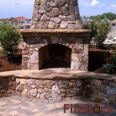 outdoor fireplace kits | FireRock Outdoor Fireplace Kit | Fire Rock