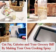 Cut Fat, Calories and Your Grocery Bill! By Making Your Own Cooking Spray