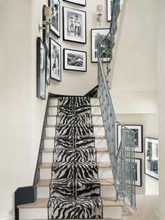 unexpected zebra print stairs
