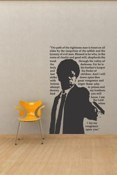Pulp Fiction Quote Wall Decal - I need this for Sammy's room....when ...