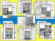Short Vowel Interactive Notebook from Resources for Primary Classrooms on TeachersNotebook.com -  (125 pages)  - Practice short vowels with these interactive notebook pages! Students will practice hearing and writing words with the short vowel sounds while working on word families.