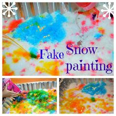 snow activities for kids: snow painting