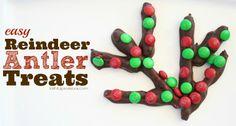 Fun Reindeer Antlers Holiday Treats | Holiday Cookie Swap Idea