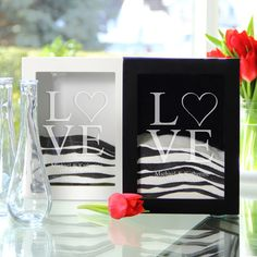 Personalized Love Collection Sand Ceremony Shadow Box Sets.