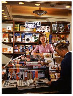 Rockefeller Center Newstand    1941; photo by Bernard Hoffman.