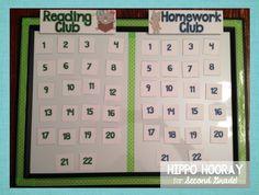 I love the reading club idea if they return their reading bingo sheets!