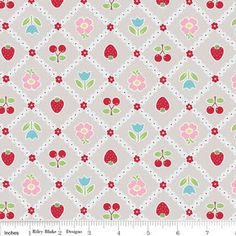 Bake Tablecloth Gray Riley Blake Fabrics Lori by DragonflyFabrics, $9.00