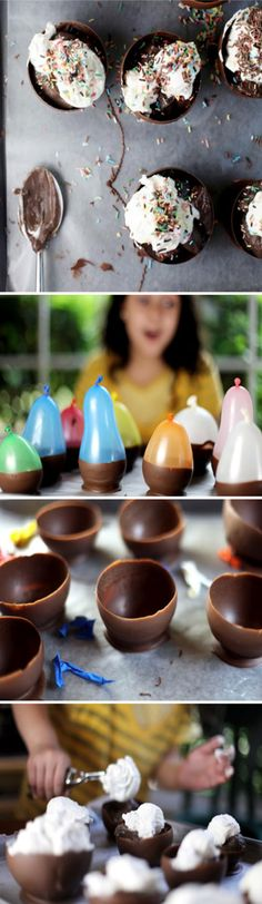 Chocolate bowls for kids parties