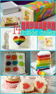 surpris cake, surprise inside cakes, round cakes, inside surprise cake, cake inside a cake