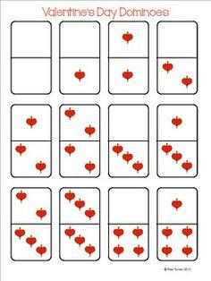 Valentine's Day Dominoes Printable Freebie