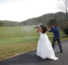 New Wedding Tradition, Shooting the Bouquet?