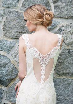 Claire Pettibone 'Thalia' wedding dress via Blush Bridal http://www.clairepettibone.com/bridal/?cp=gowns/thalia |  Photo: Melissa Gidney Photography via 100 Layer Cake