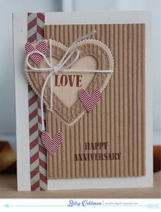Rustic Love Card by Betsy Veldman for Papertrey Ink (December 2013)