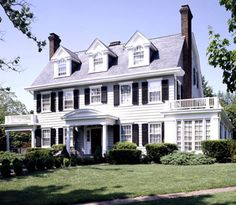 Colonial-Style Homes  The Colonial style--dating back to 1876--is one of the most popular styles in the United States. Colonial homes usually have two or three stories, fireplaces, and brick or wood facades. The classic Colonial house floor plan has the kitchen and family room on the first floor and the bedrooms on the second floor.