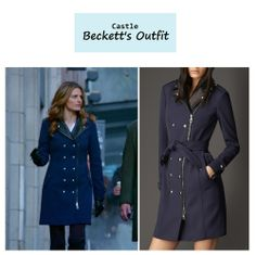 "On the blog: Kate Beckett's (Stana Katic) blue biker coat | Castle - ""The Greater Good"" (Ep. 619) #tvstyle #tvfashion #outfits #fashion"