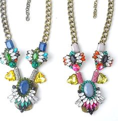 The perfect sparkling #statement, the Sabina Jeweled Necklace! #SwellCarolineTheCollection #FallFashion