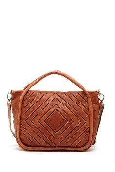 Monserat De Lucca // cognac leather purse