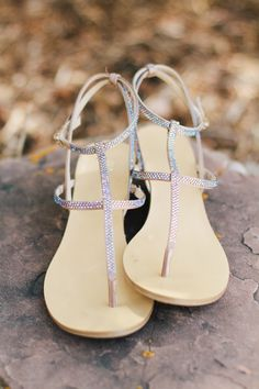 Sandals from Macy's -- See the outdoor wedding on #SMP right here -- http://www.StyleMePretty.com/little-black-book-blog/2014/04/11/beautiful-high-star-ranch-wedding/ KateOsbornePhotography.com