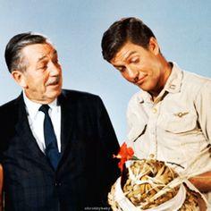 Walt Disney with Dick Van Dyke, 1965