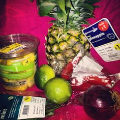 Fresh Pineapple, Mint & Lime Salsa