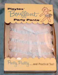 Vintage Playtex Bouffant Party Pants, 1958.