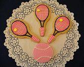Tennis Cookies. $48.00, via Etsy.
